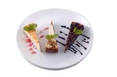 Dessert on platter Royalty Free Stock Photos