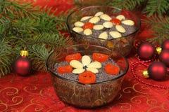 Dessert polacco di natale   fotografie stock