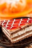 Dessert posé d'une plaque Image stock