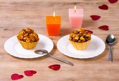 Dessert pour deux Image stock