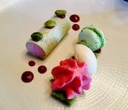 Dessert pranzante fine Fotografia Stock