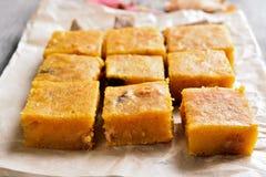 Dessert pumpkin bars Stock Photo