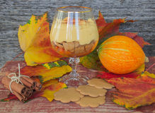 Dessert of pumpkin with cinnamon Royalty Free Stock Photos
