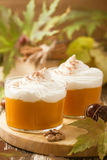 Autumn dessert of pumpkin mousse . Pastels Royalty Free Stock Photography
