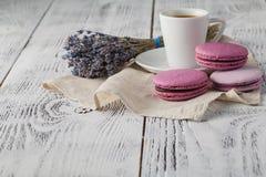 Dessert qui respecte l'environnement français traditionnel Macarons Images stock