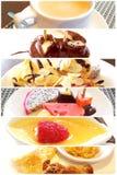 Dessert réglé dans les restaurants photographie stock libre de droits