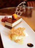 Dessert on restaurant table Stock Images