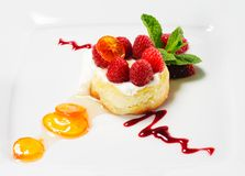 Dessert - Ricotta Cheesecake Royalty Free Stock Photos
