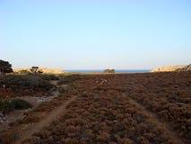 Dessert road to karoumes beach kreta island background fine art. Prints stock images