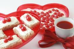 Dessert romantico. Fotografia Stock