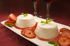 Dessert romantico Immagine Stock