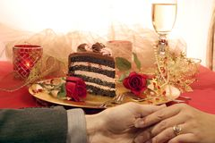 Dessert romantique photos stock