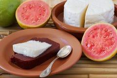 Dessert Romeo and Juliet of goiabada, Minas cheese Royalty Free Stock Photos