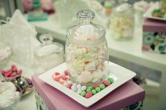 Dessert rose de guimauves photographie stock libre de droits