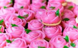 Dessert rose pink for valentine day. Stock Photography
