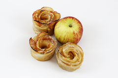 Dessert for Rosh HaShana apple cakes with apple. Desert for Rosh HaShana, the Jewish new year. Made of apples for sweet New Year stock image