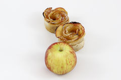 Dessert for Rosh HaShana with apple. Desert for Rosh HaShana, the Jewish new year. Made of apples for sweet New Year royalty free stock photography