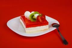 Dessert rosso Fotografie Stock Libere da Diritti