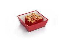 Dessert rouge, nourriture de ligne aérienne Photo libre de droits