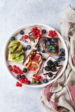 Dessert sandwiches with berries Stock Photography