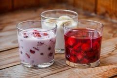 Dessert saporito della frutta della prima colazione Fotografia Stock