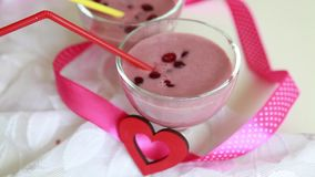Dessert savoureux Milkshake naturel clips vidéos