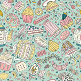 Dessert seamless pattern Stock Photo