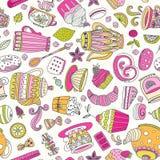 Dessert seamless pattern Royalty Free Stock Images