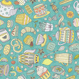 Dessert seamless pattern Stock Images