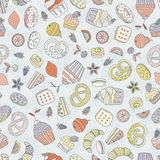 Dessert seamless pattern Stock Photography