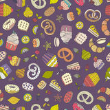 Dessert seamless pattern Royalty Free Stock Images