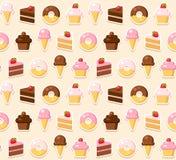 Dessert seamless pattern Stock Photos