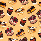 Dessert seamless pattern Stock Photos