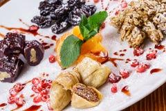 Dessert sec de fruits Images libres de droits