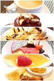 Dessert set in restaurants. Dessert set and coffee in restaurants Royalty Free Stock Photography