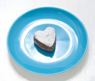 Dessert in the shape of a heart Valentinees Day Stock Images