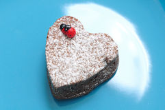 Dessert in the shape of a heart Valentinees Day Royalty Free Stock Photo