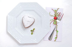Dessert in the shape of a heart Valentines Day Royalty Free Stock Images