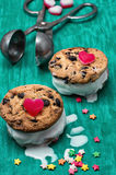 Dessert shortcake with ice cream Royalty Free Stock Image