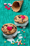 Dessert shortcake with ice cream Stock Photography