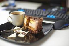 Dessert-slace of cake Royalty Free Stock Photography