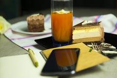Dessert-slace of cake Royalty Free Stock Image