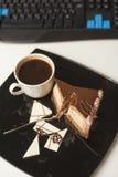 Dessert-slace of cake Stock Photo