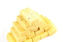 Dessert soan del ghi dello zucchero dell'alimento di papdi dei dolci indiani fotografia stock