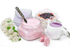 Dessert and spa cosmetic Stock Images