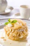 Dessert squisito con le pere Fotografie Stock Libere da Diritti