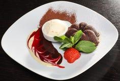 Dessert squisito del cioccolato immagini stock libere da diritti