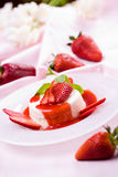Dessert squisito della fragola Immagini Stock Libere da Diritti