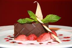 Dessert squisito della fragola Fotografia Stock Libera da Diritti