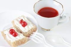 Dessert still-life. Sweet breakfast cake Stock Image